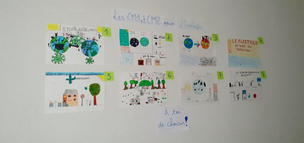 Concours affiches sensibilisation pour l'écologie_CM1-CM2